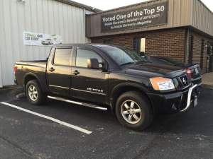 Nissan Titan Remote Starter and Step Bars for Bumpass Client's Wife