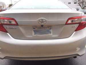 Toyota Camry Backup Camera System for Richmond Client