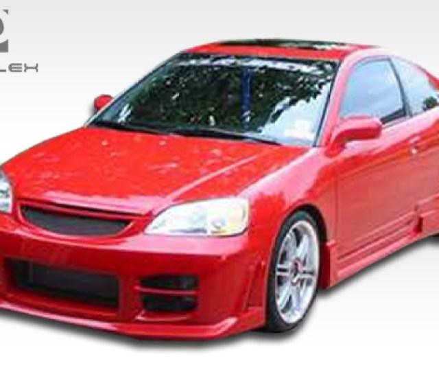 Kit Body Kit For 2003 Honda Civic 4dr 2001 2003 Honda Civic 4dr Duraflex