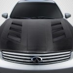 2003 Infiniti G Sedan 4dr Hood Body Kit 2003 2004 Infiniti G Sedan G35 Carbon Creations Dritech Am S Hood 1 Piece Xsv Custom Auto
