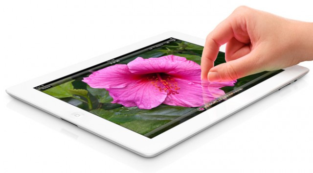 iPad 3, with disembodied hand
