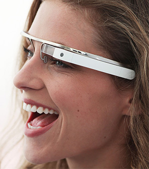 Google Glass, in white