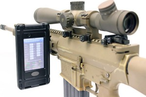 Rifle with Tablet mount