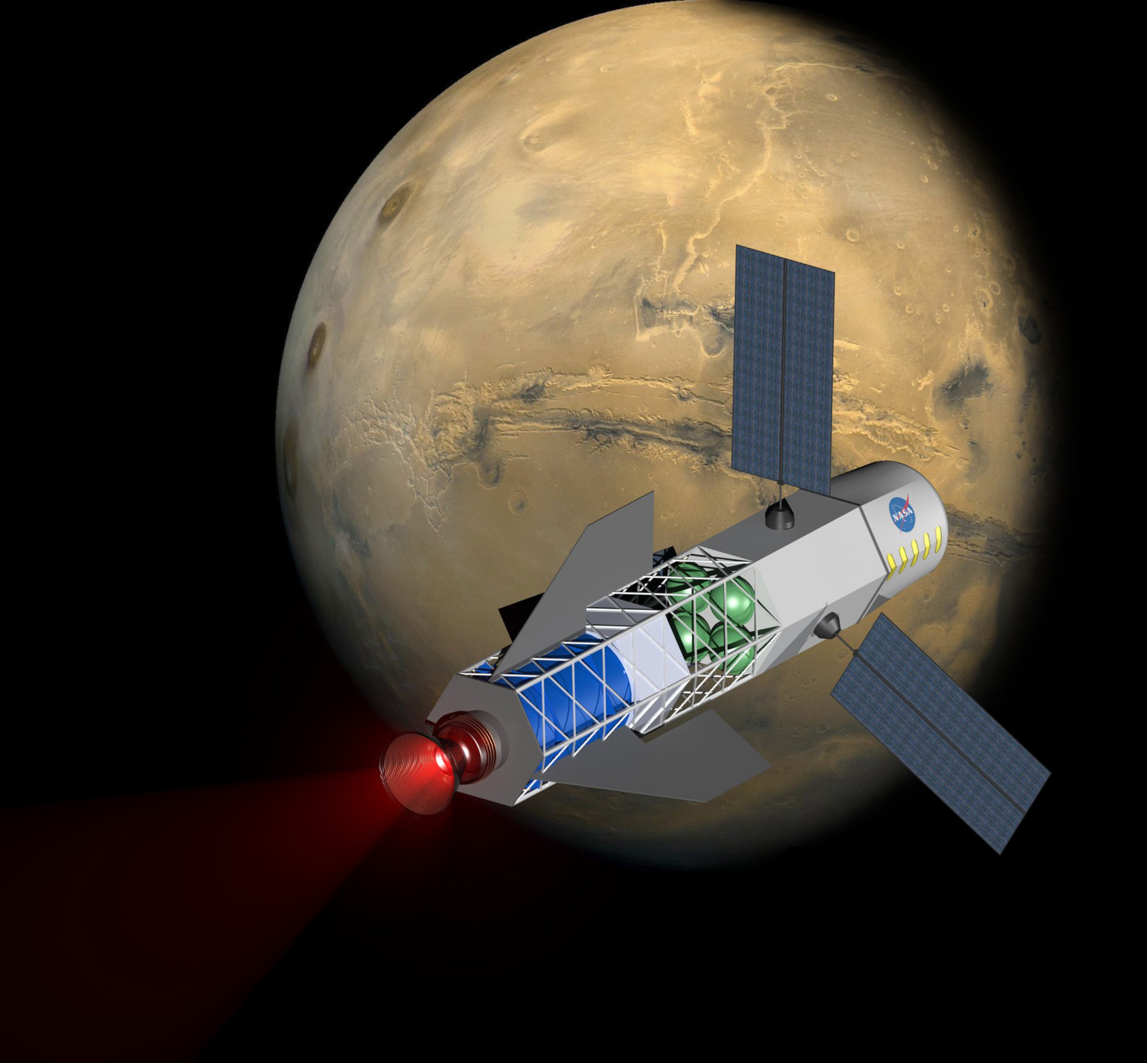 Image result for nasa laser to send humans to mars