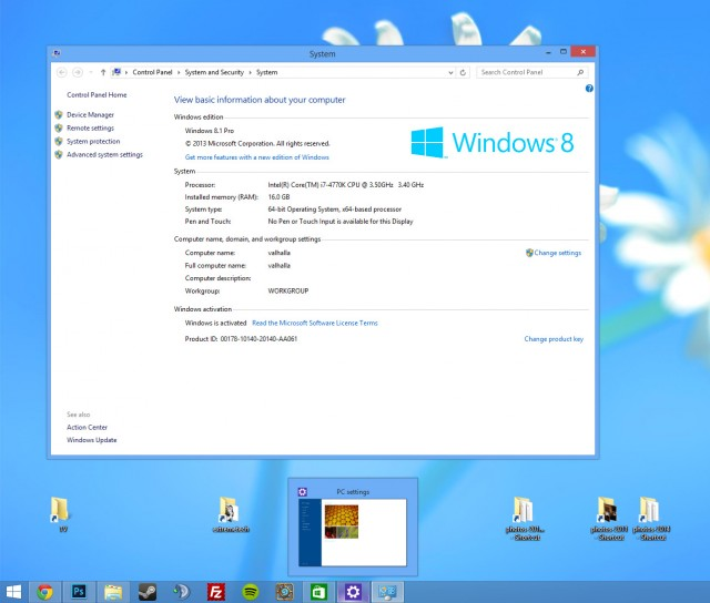 Windows 8.1 Update 1 Desktop