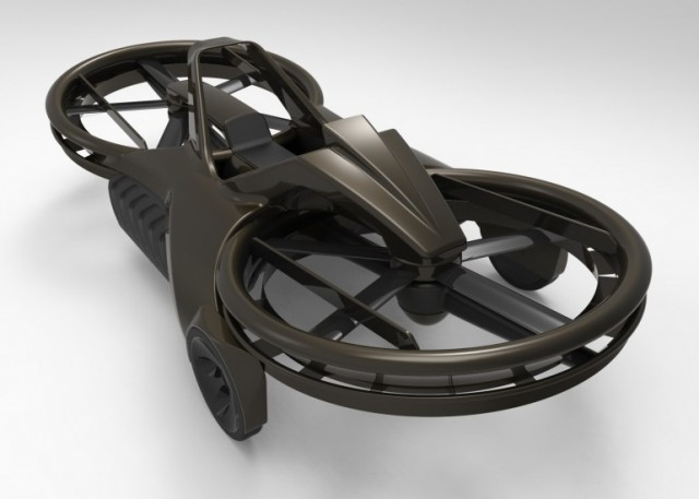 What the finished Aero-X hoverbike will look like, hopefully
