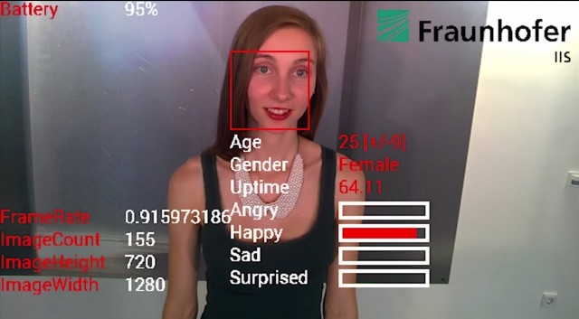 Fraunhofer Google Glass emotion detection, happy