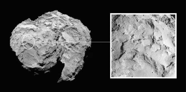 Philae's primary landing site, Site J, now named Agilkia