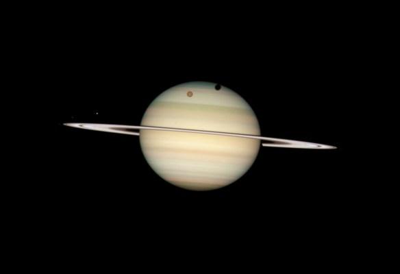 Quadruple Saturn Moon Transit