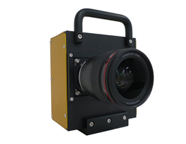 Canon used this prototype camera along with the new sensor to read the lettering on an airplane over 11 miles away
