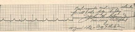 John Glenn's EKG, 20 Feb 1962, taken after orbit
