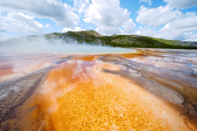 Grand Prismatic at Yellowstone in simulated K64 -- photo by David Cardinal