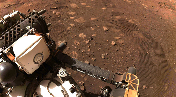 Perseverance takes its first scratch on Mars
