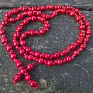 Handmade christian red prayer beads necklace