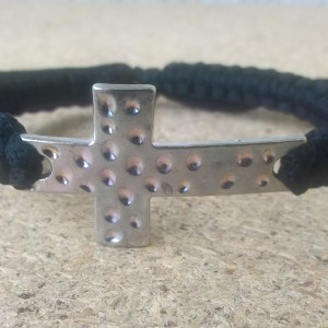 Handmade prayer ropes with silver metal cross bracelets
