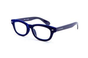 doubleice velvet blue italian designer reading glasses