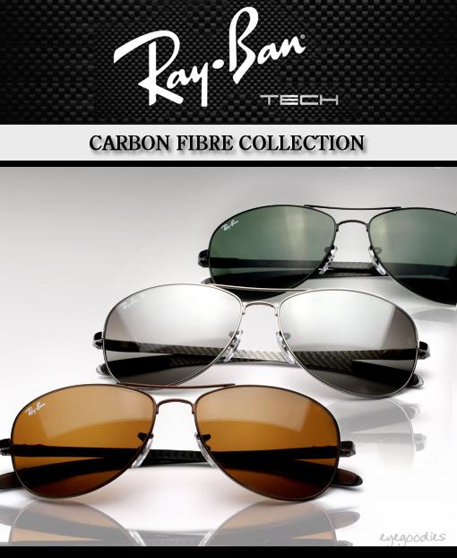 Ray Ban Tech Carbon Fibre Sunglasses