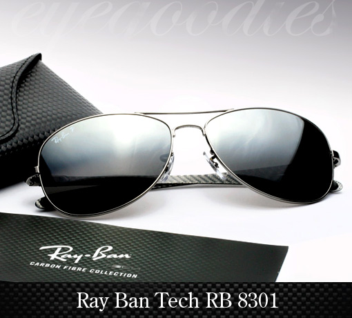 Ray Ban RB 8301 Carbon Fibre Sunglasses