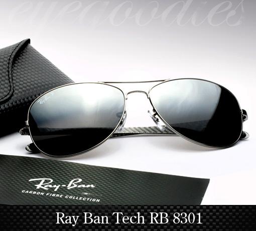 Ray Ban RB 8301 Carbon Fibre Sunglasses