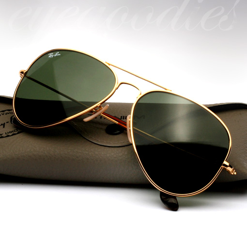 ray ban aviator titanium gold polarized