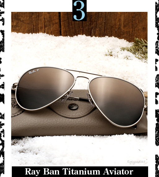 3. Ray Ban Titanium Aviator Sunglasses
