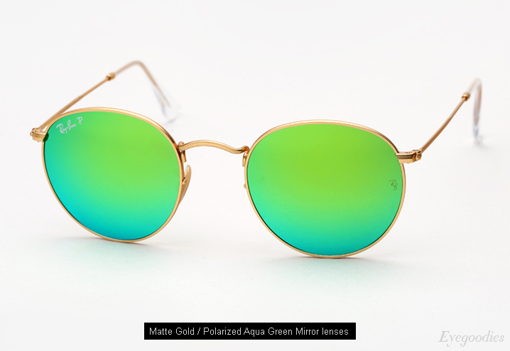 ray ban outlet online legit  ray ban round metal 3447 sunglasses polarized aqua green mirror