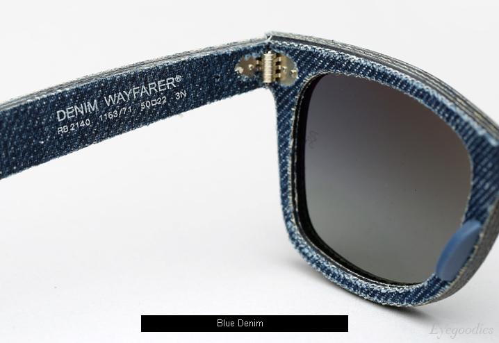 Ray Ban Denim Wayfarer RB 2140 sunglasses - Blue