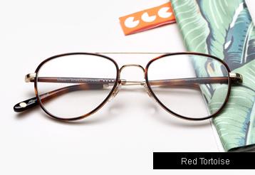 Garrett Leight Linnie eyeglasses - Red Tortoise / Gold