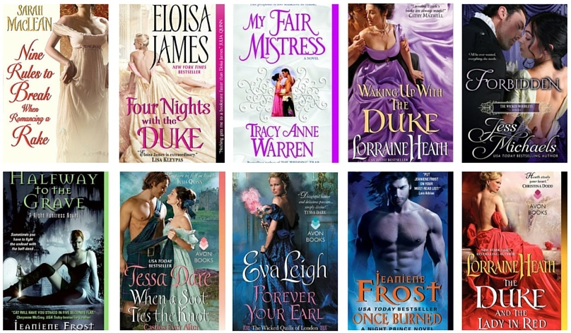 Top 10 Adult Romance Books I Read in 2015
