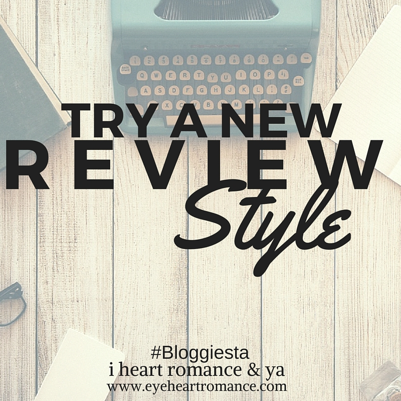 Bloggiesta Challenge: Try a New Review Style + Giveaway