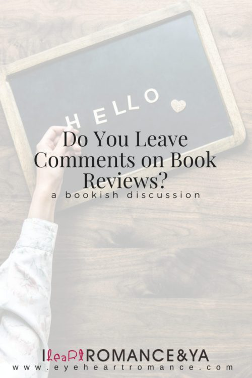 Do You Leave Comments on Book Reviews?