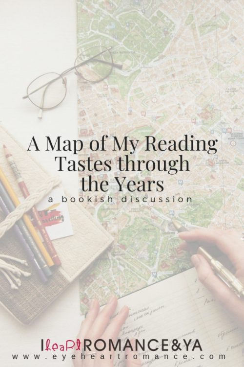 A Map of My Reading Tastes through the Years