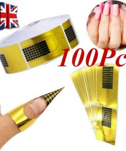 100psc Nail Forms - golden