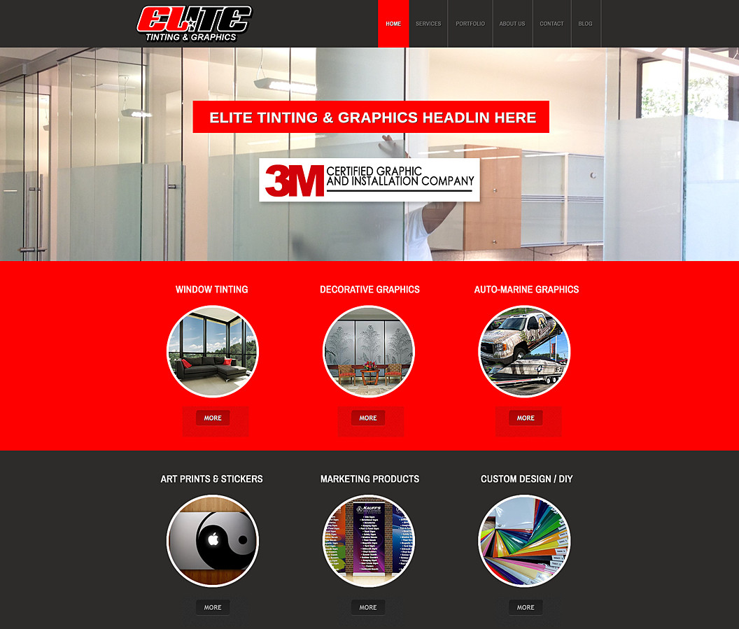 Website Built for Elite Tinting and Graphics