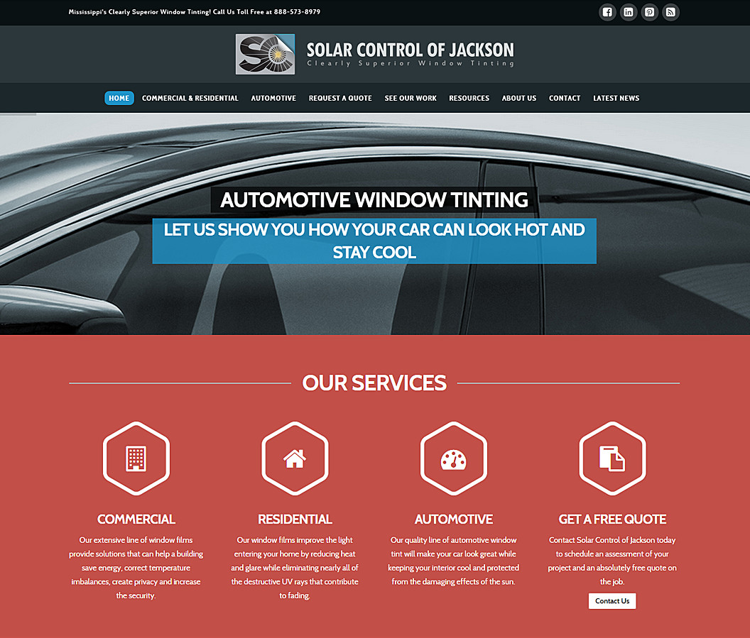 Website Build Solar Control of Jackson