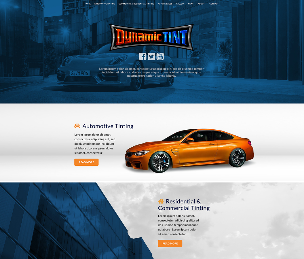 Dynamic Tint Website