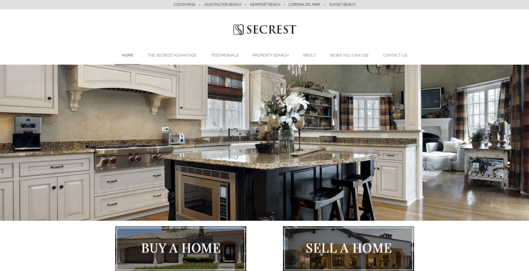 Secrest Real Estate - Web Design by Eye Magnet Management