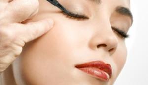 Image result for applying liquid eyeliner