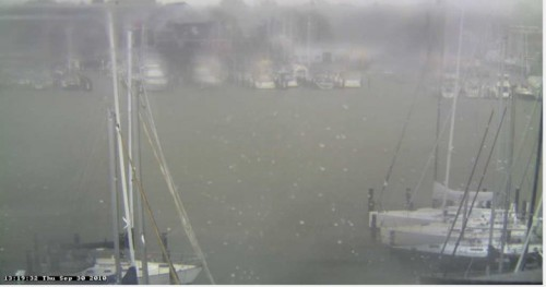 Annapolis Harbor flooding Tropical Storn Nicole