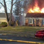 Fully Involved House Fire In Crofton