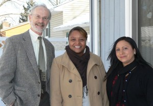 (L to R) Ron Callison, Maryland Affordable Housing Trust Coordinator; Rasheda O'Neal, Program Coordinator-Bello Machre; Sabine Peterson, Family Living Director-Bello Machre Elmhurst Road Home (Courtesy Photo)