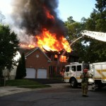 Severn Fire Destroys Home