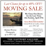 40% off Marion Warren photos at Eastport Gallery