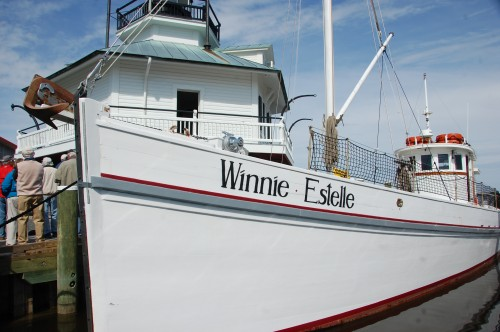 The Chesapeake Bay Maritime Museum is offering a 90-minute narrated cruise aboard its buyboat, Winnie Estelle, shown here, with Midshore Riverkeeper® Conservancy's Drew Koslow on Thursday, July 17. Participants will learn about local water quality, testing, and more. The cruise departs CBMM's waterfront at 10 a.m., with pre-registration needed as space is limited. To register or for more information, call 410-745-4941
