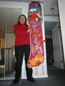 Giant Stocking Winner JoAnne Zoller Wagner