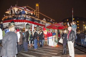 "Watermark's Harbor Queen will again host the ""Queen of All Food Drives"" to benefit the Anne Arundel County Food Bank. Watch the Eastport Yacht Club Parade of Lights on Harbor Queen in exchange for a donation. Photo by Rick Brady."