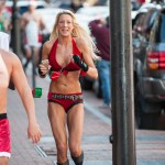 Hundreds brave the cold in the 10th Annual Santa Speedo Run