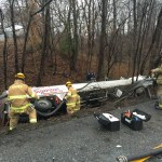 Crash, hazmat snarls traffic on Route 3 in Gambrills