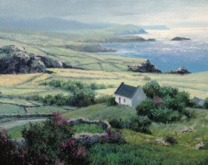 Michael Godfrey, Irish Cottage, oil at MBride Gallery