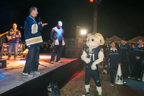 Pre Army Navy football Pep Rally at USNA 12-07-16  Photos by: Glenn A. Miller